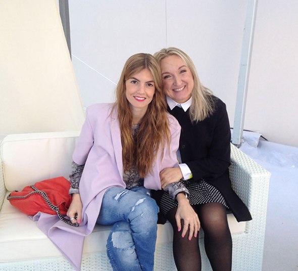 Con Valentina Soster